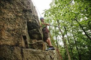 Jednodenní kurz lezení u Písku včetně pohybu po zajištěných cestách...
