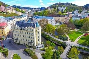 Karlovy Vary v Pavlov Spa Hotelu s rozšířenou polopenzí, vstupem do Alžbětiných lázní i sauny +…...