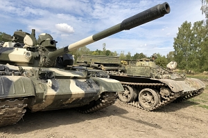 Řízení tanku T-55 a BVP-1 + střelba na střelnici...